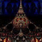 Fractal Art Deco Stalagmite by sciencenotes