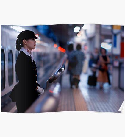 Bullet-train babe; Tokyo, Japan Poster