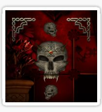 Awesome skull with celtic knot Sticker