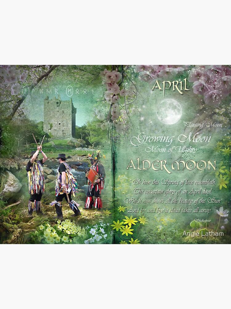 April : Alder Moon by AngelaBarnett