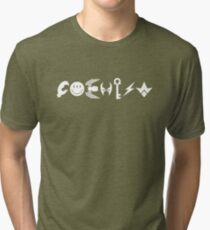 COEXIST - white Tri-blend T-Shirt