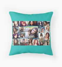 Lucy Hale Collage  Throw Pillow
