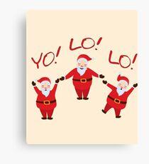 YOLO Santa Clause for Christmas Canvas Print