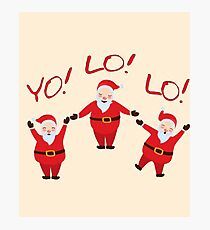 YOLO Santa Clause for Christmas Photographic Print