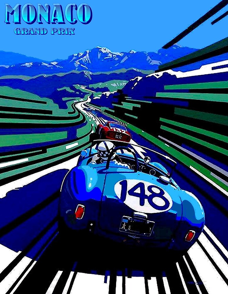 MONACO GRAND PRIX; Auto Racing Advertising Print by posterbobs