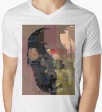 skull on code Men's V-Neck T-Shirt