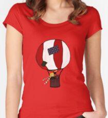 Hot air ballon Women's Fitted Scoop T-Shirt