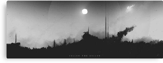 Follow the Hollow - Digital Artwork von Lucas Dietrich