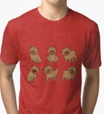 Pug Illustration T-Shirt Tri-blend T-Shirt