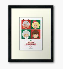 Golden Girls Christmas Card, Dorothy, Rose, Blanche and Sophia Framed Print
