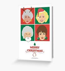 Golden Girls Weihnachtskarte, Dorothy, Rose, Blanche und Sophia Grußkarte