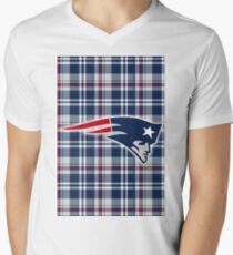 New England Patriots PLAID CUSTOM Print T-Shirt