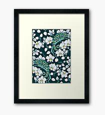 chameleons and orchids  Framed Print
