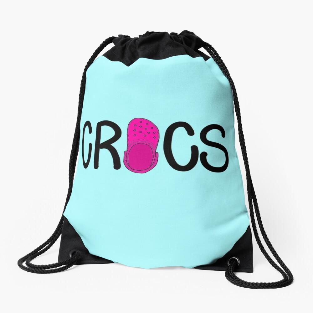 Pink Crocs  Drawstring Bag