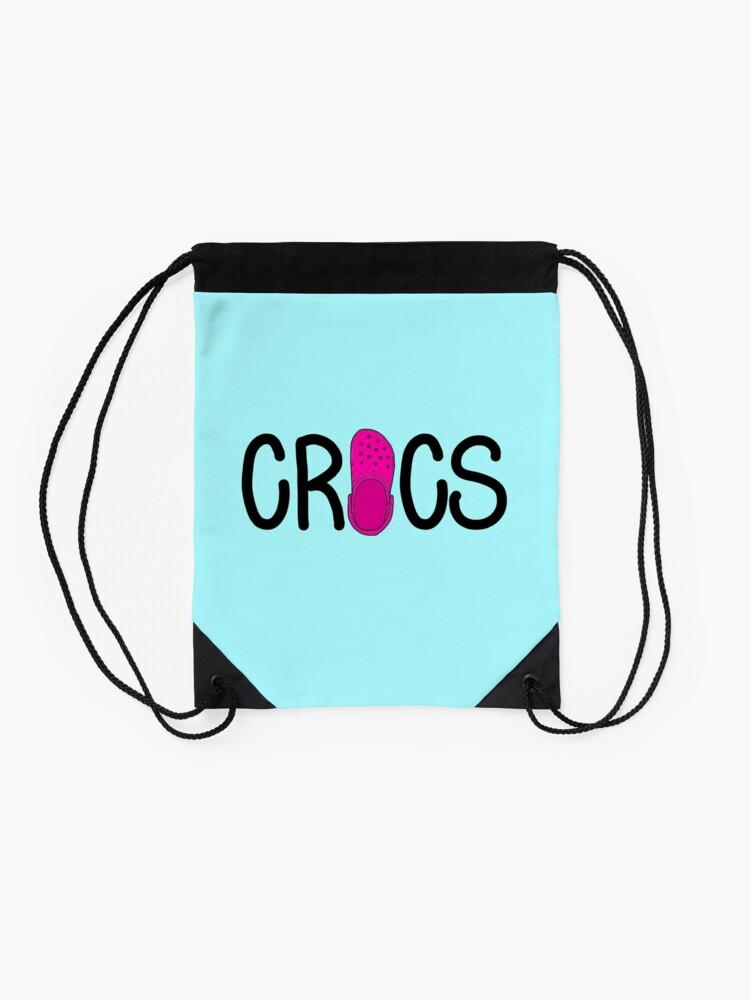 Alternate view of Pink Crocs  Drawstring Bag