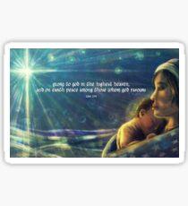 Mary & Jesus | Star of Bethlehem | Luke 2:14 Sticker