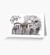 Bellair St Kensington Melbourne. Pen sketch.  Greeting Card
