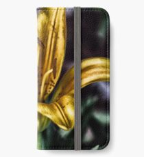 Yellow Lilly iPhone Wallet