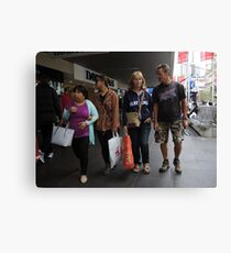 shoppers Canvas Print