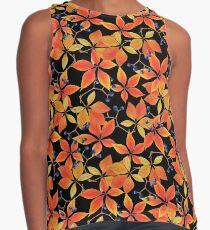 Watercolor parthenocissus pattern Contrast Tank
