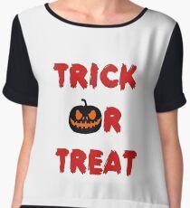 Trick or treat (Halloween) Women's Chiffon Top