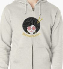 BrownGyrlKnits Brand Apparel Zipped Hoodie