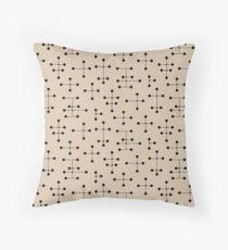 Midcentury Modern Dots 105 Throw Pillow