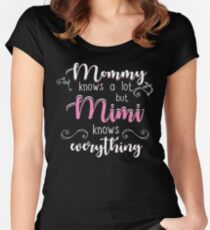 Mimi Gifts Mommy Knows A Lot But Mimi Knows Everything Women's Fitted Scoop T-Shirt