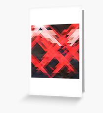 Abstract Triangle Vector Pattern Texture Greeting Card
