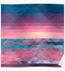 Abstract Triangle Vector Pattern Texture Poster