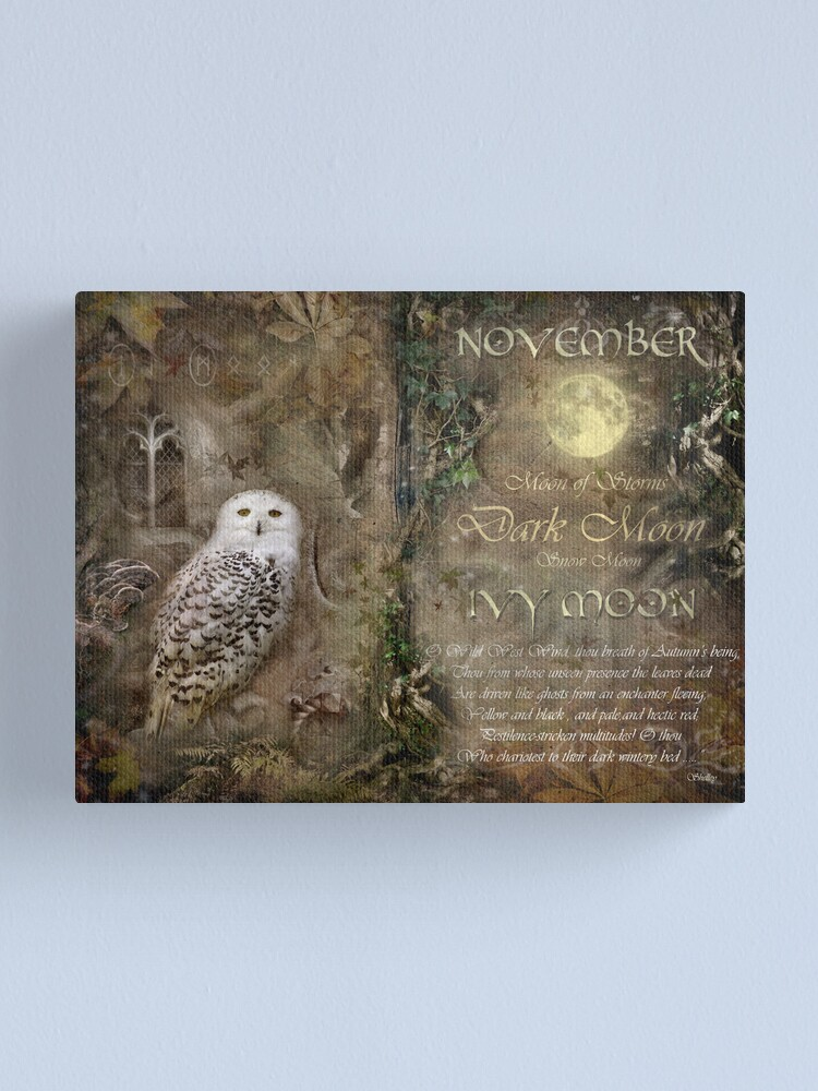 Alternate view of November - Ivy Moon Canvas Print