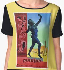 Pompeii Pompei Vintage Italian travel advert Women's Chiffon Top