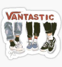 VAN-TASTIC! (vintage vans art)  Sticker