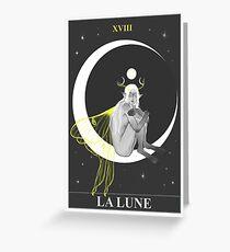 "Tarot Card ""The Moon"" Greeting Card"