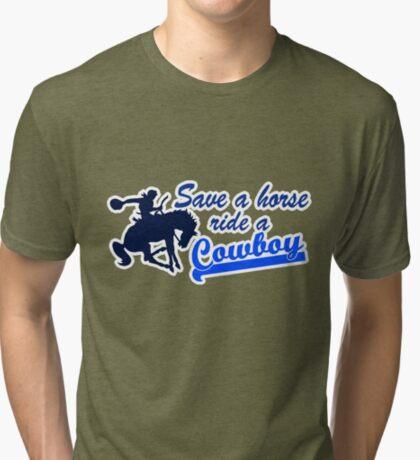 Cowboy t-shirt Tri-blend T-Shirt