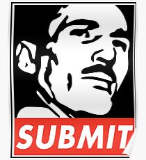Helio Gracie Submit Poster