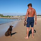 3 Nick with his Rescue Dog Rosie a Kelpie-Border Collie  by Cathie Brooker