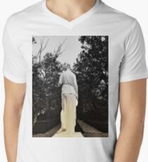 stone woman, sculpture Men's V-Neck T-Shirt