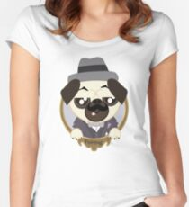 Great Detective Poirpug. Poirot the Pug Women's Fitted Scoop T-Shirt