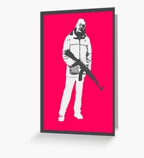 Old Man with Gun Greeting Card