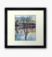 Two seasons with birds  007 21 10 17 Framed Print