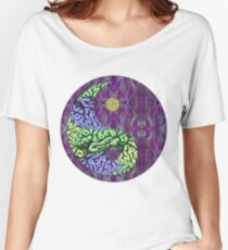 The Yin Yang of Consciousness ((Purple)) Women's Relaxed Fit T-Shirt