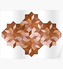 Cubistic Cubes and Rhombs Poster