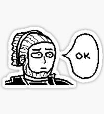"Ganondorf Saitama ""OK"" Sticker"