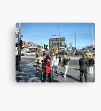 Footy fever griping Melbourne  Canvas Print