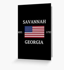 Savannah Georgia Greeting Card