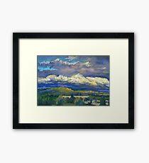 Golden Cloud Above Vancouver Framed Print