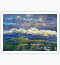 Golden Cloud Above Vancouver Sticker