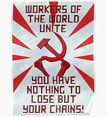 Kommunistische Propaganda Poster Poster