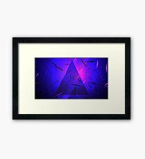 Urban Abstract Triangular Neon Framed Print